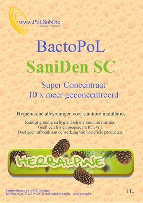 "Bactopol allesreiniger ""superconcentraat"" Pinefresh 1L"