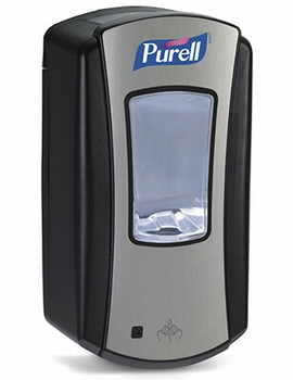 LTX Purell Dispenser 1200ml - Chrome/Black 1 st.