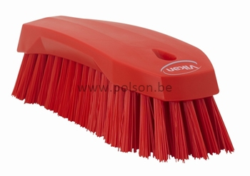 Handschuurborstel polyester L 60x70x200mm Rood