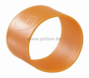 Rubber ring: per set van 5 ringen Ø 40 mm Oranje