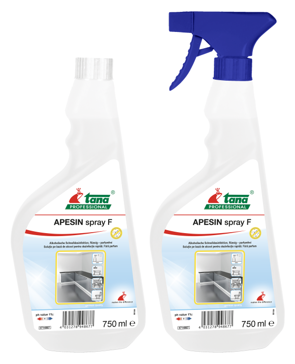Apesin Spray F - Reiniger met 70 % alcohol - 750ml  10 x 1st