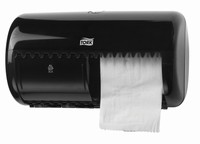 Tork Dispenser Toilet Paper Roll Twin Black