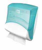 Tork Dispenser Wiper / Cloth Folded White / Turqoise