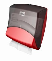 Tork Dispenser Wiper / Cloth Folded Red / Smoke
