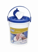 Tork Premium Wet Wipe Hand Cleaning Handy Bucket (Blue Lid)