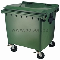 Container 770L 136x77x133cm - GROEN