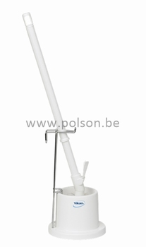 Toiletborstel met houder: polyester vezels medium ø180mm wit