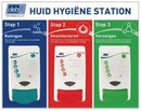 Deb. Food Huid Hygikne 3 staps Station incl dispensers