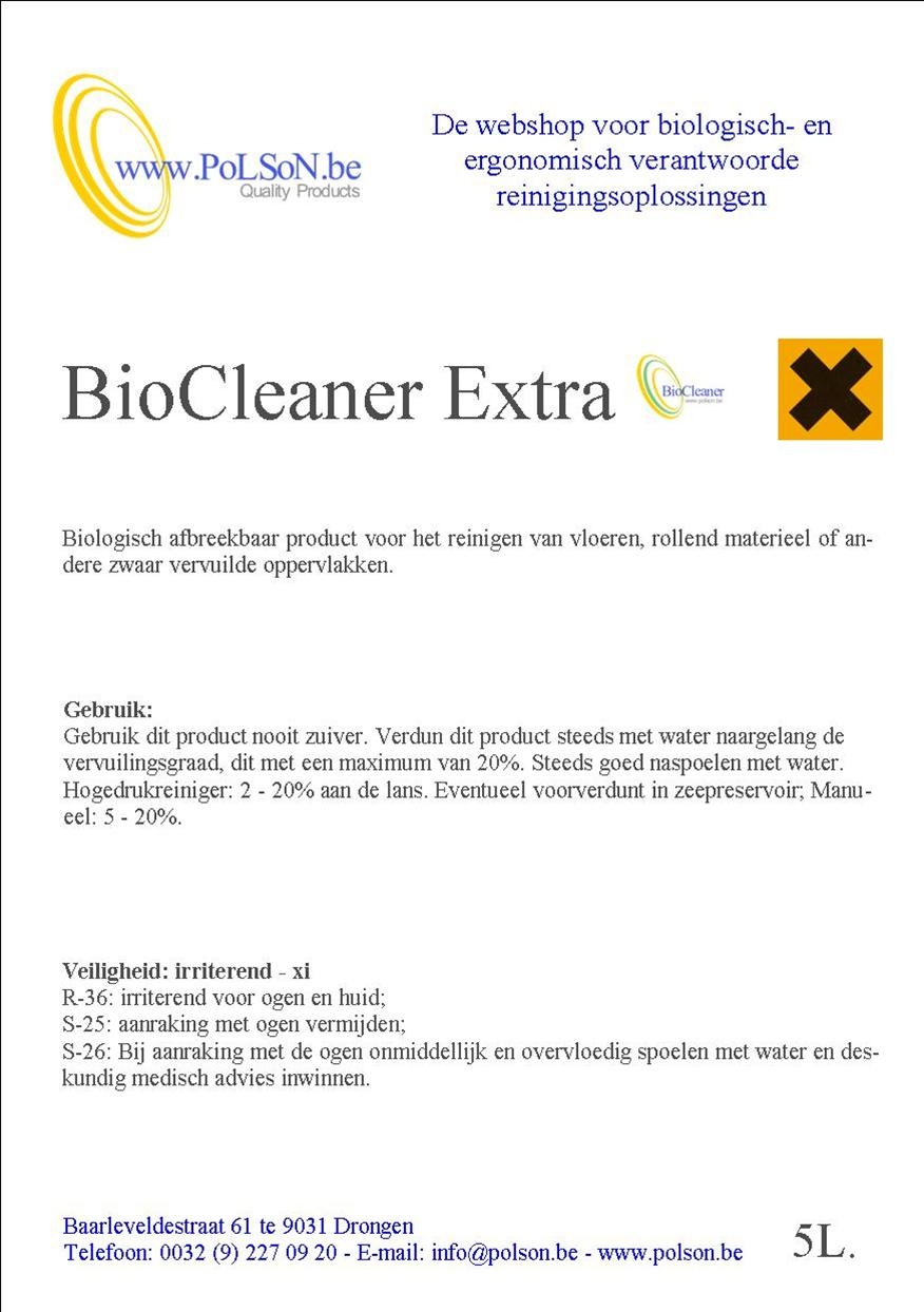 BIOCLEANER EXTRA 5L.