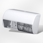 Toiletpapier dispenser wit dubbel vr std rollentjes