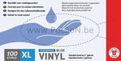 HANDSCHOEN VINYL BLAUW / 1000 X-LARGE (1x10 dispencers)