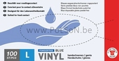 HANDSCHOEN VINYL BLAUW / 1000 LARGE (1x10 dispencers)