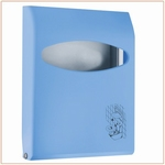 Toiletbrilovertrekdispenser Mini 200vel Blauw 1st