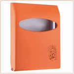 Toiletbrilovertrekdispenser Mini 200vel Oranje 1st