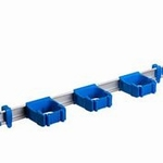 Toolflex One 54 cm rail met 3 x steelklemmen 1 set blau