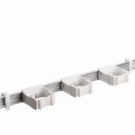 Toolflex One 54 cm rail met 3 x steelklemmen 1 set wit