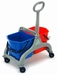 Rolemmer dubbel FRED 2x15L BLAUW/ROOD